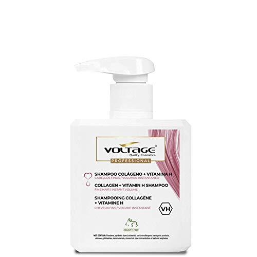 Voltage Shampoo Shampoo colágeno + vitamina H - 500 ml