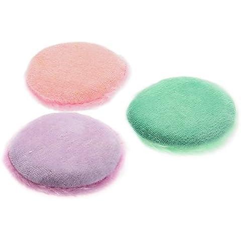 F&HY&L Vellosidades en forma redonda con Bowknot naturaleza borla de esponjas para la cara (colores aleatorios, M)