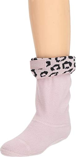 Hunter Kids Original Boot Socks Snow Leopard Cuff haze pink leopard jacquard, Größe:XL (Kids Xl Socks Boot Hunter)