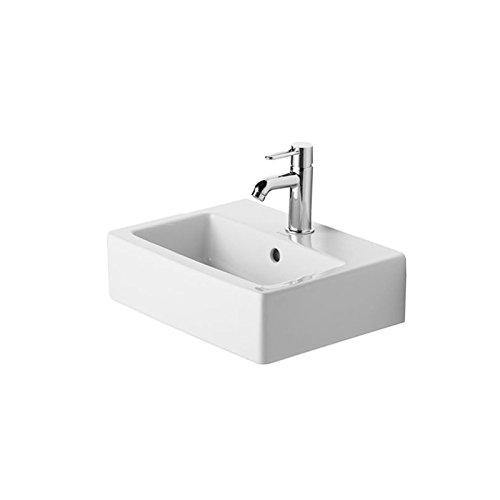 Duravit Vero Waschbecken (Duravit Handwaschbecken Vero Breite 45cm 1 Hahnloch, weiß 704450000)