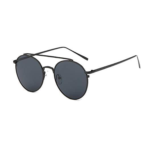 Meisijia Frauen-Kreis Runde Doppel-Brücke Metallrahmen Sonnenbrillen UV-Schutz Shades Brillen Female Wandern Sonnenbrillen