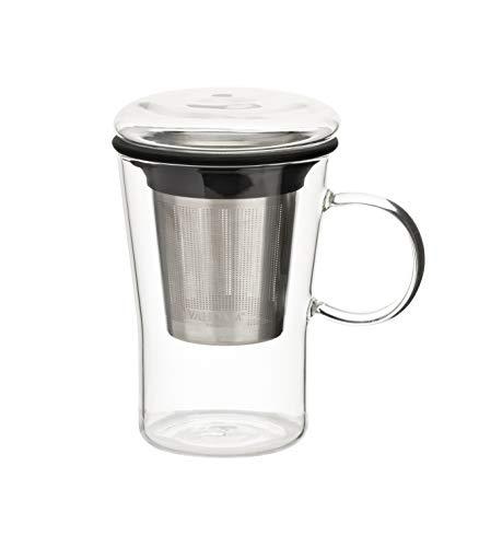 VAHDAM, Glass teekanne mit Infuser   500 ml   Loose Leaf teekanne Glas   Loser Tee Tea Infuser   Teebecher mit sieb   Tee-Ei-Becher   teetasse   Teetasse mit Deckel und sieb   teekanne   teapot