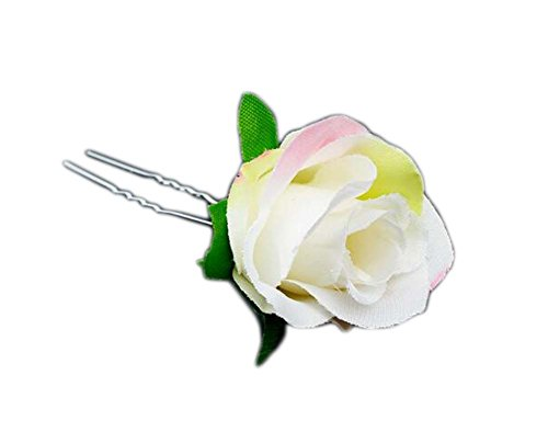 Fleur Design Hair Stick Pin Clip pour les cheveux longs Set de 6 # 02