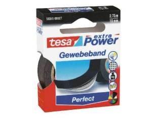 tesa Gewebeband, 19 mm x 2,75 m, schwarz, 10 Rollen