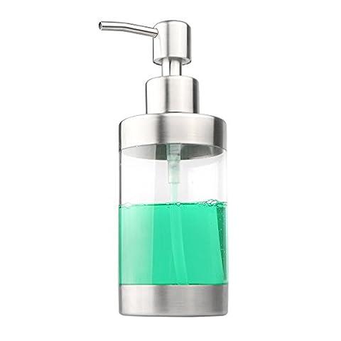 Distributeur de savon en métal de savon à pompe en