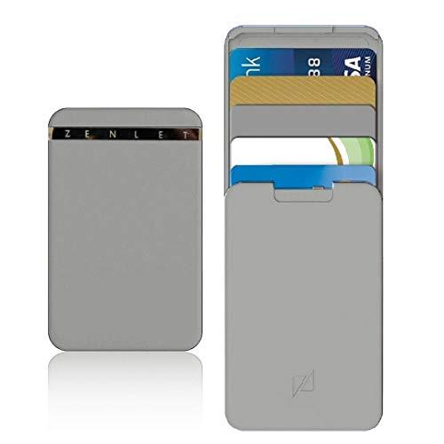 TAOtTAO Zenlet Kreditkarten-Paket Anti-Side Wallet Aktion Wallet Push-Pull-Kartenhalter (Grau)