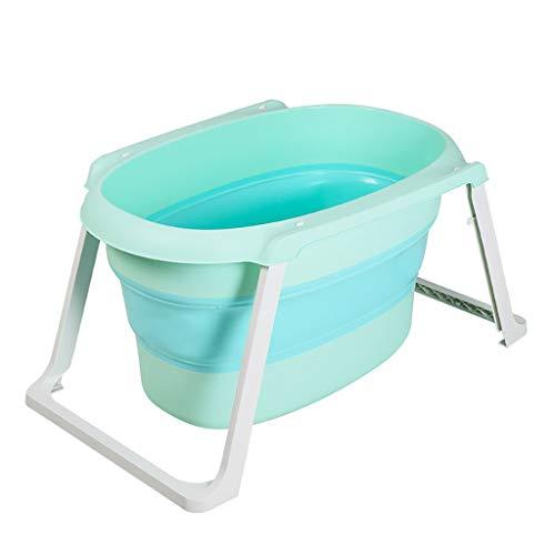 Bathtub Folded, Tragbare Haushalt Wanne, Badewanne beweglicher im Freien Reisen (Farbe: Hellrosa, Größe: 107 * 63,5 * 50 cm) blaues Licht, 107 * 63,5 * 50 cm