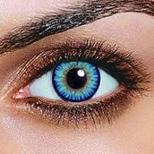 Farbige Kontaktlinsen SKY blaue Kontaktlinsen + ein gratis Behälter Jahreslinsen Blaue Kontaktlinsen Karneval Blaue Kontaktlinsen Halloween