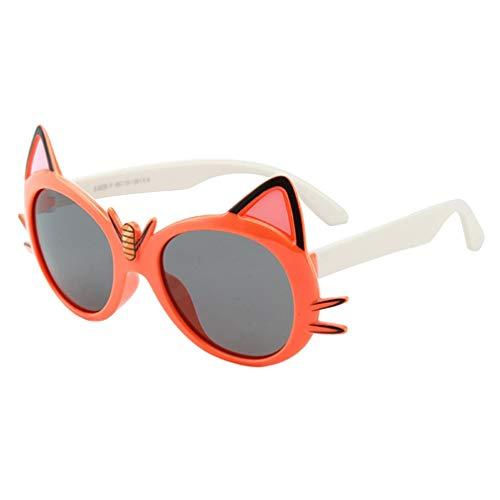 Yying Neue Cartoon Katze Polarisierte Sonnenbrille Kinder Reisen Outdoor Silikagel Sonnenbrille Candy Farbe Brille C4