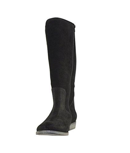 JJ Footwear Damen Stiefel Suede Arlington XXL Schwarz Suede