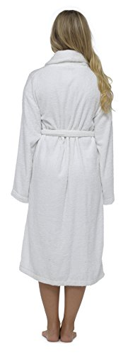 Best Deals Direct Insignia Damen Bademantel Frottee Spa Hotel 100% Baumwolle Robe weiß nicht mit Kapuze