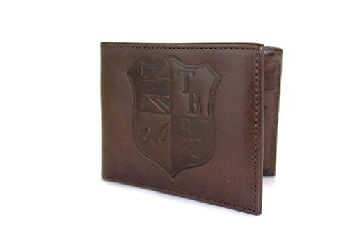 lanlay 100% echtem Leder Geldbörse, 8Kreditkartenfächer und Taschen Kastanienbraun