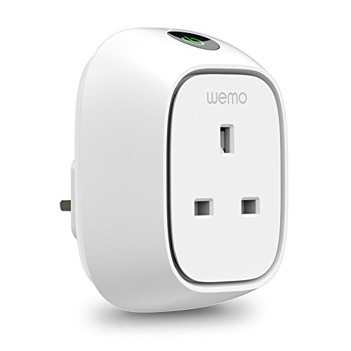 Wemo Insight Switch, Wi-Fi Smart Plug, Control Lights and Appliances from Phone, Manage Energy, Works with Amazon Alexa