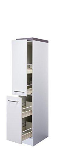 Flex-Well Demi-Apothekerschrank Nawa weiß 162 cm hoch 30 cm breit