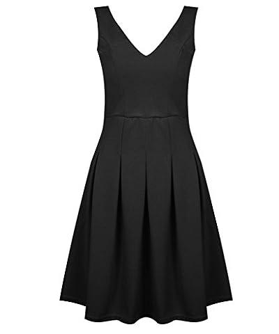 FASHIONCHIC - Robe - Femme - Noir - 42
