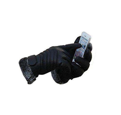 guanti moto invernali, sport guanti uomo invernali termici PU pelle guanti touchs