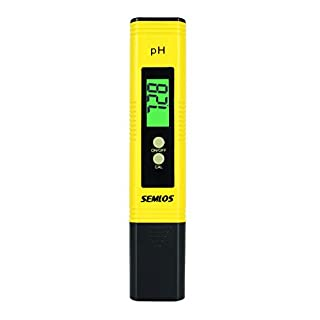 Semlos 0.01 Resolution Digital PH Meter Large LCD Pen Water Quality Tester with Auto Calibration Function and 0.00-14.00 Measurement Range
