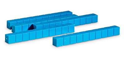 Learning Resources Grooved Plastic Base Ten Rods (Set of 50) by Learning Resources