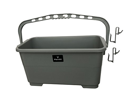 FenWi Profi-Wischeimer für Fensterreinigung - 24 Liter Rechteck-Eimer 50x24cm - ideal für Kombi-Fensterwischer 45/50cm
