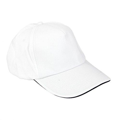 Casquette De Baseball Visière Golf Classique Chapeaux de Sport Réglable - Blanc, Taille unique