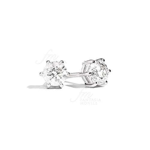 Orecchini Recarlo Punto Luce Collezione Sofia Diamante Naturale Oro 18kt Donna XE407/023