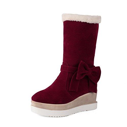 A&N ,  Damen Schneestiefel , rot - rot - Größe: 37 (Damen Cowgirl-stiefel Größe 10)