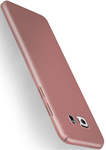 MoEx® Backcover [Ultra-Slim Design] passend für Samsung Galaxy S7 | Stabile Hartschale mit optimalem Stoß- und Kratzschutz - Matt Metallic Rosé-Gold