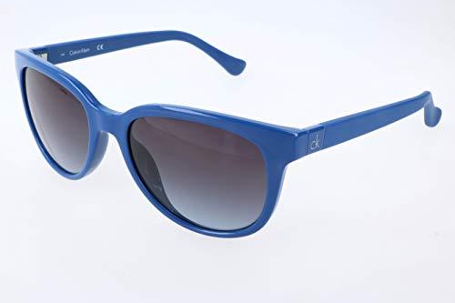 Calvin klein wayfarer eye occhiali da sole, blu (blue), 54.0 donna