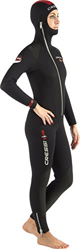 Cressi Diver Lady - Traje de buceo, color negro / rojo, talla S (2)
