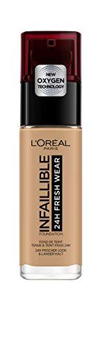 L'Oréal París Infalible24H Fresh Wear Base de Maquillaje de Larga Duración - Tono 260 Soleil Doré, 30 ml