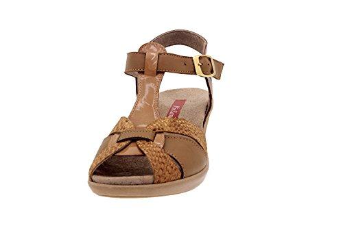 Komfort Damenlederschuh Piesanto 2860 sandale schuhe herausnehmbaren einlegesohlen bequem breit Terra