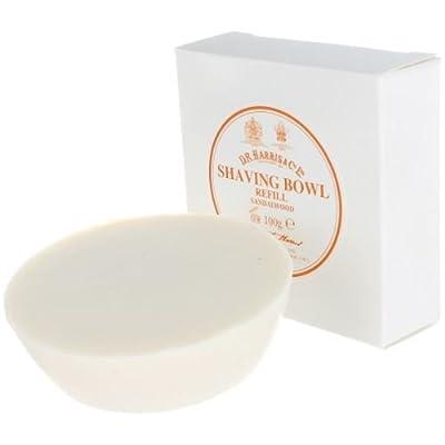 DR Harris and Co Sandalwood Shaving Soap Refill for Wooden Bowl