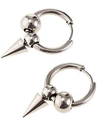 B Baosity Pendientes Aretes Clip de Orejas Aro (Perforación/No Piercing para Seleccionar)