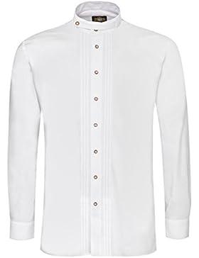 Hammerschmid Trachtenhemd Adam Regular Fit mit Biesen in Weiß
