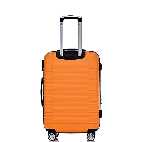 BEIBYE BEIBYE 2088 Zwillingsrollen Reisekoffer Koffer Trolleys Hartschale M-L-XL-Set in 13 Farben (Orangen, L)