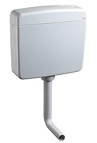 Aquashine® Hochwertiger Universal WC-Spülkasten    Aufputz-Spülkasten    6-9 Liter    Toilettenspülkasten    EURO 2000    Schwitzwasserisoliert    Spül-Stop-Funktion    Farbe Weiß    5 Jahre Garantie    Made in