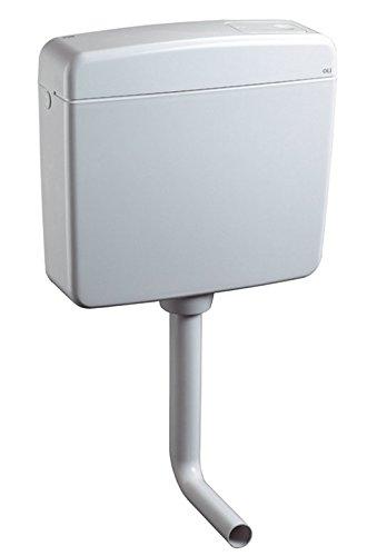 Preisvergleich Produktbild Aquashine® Hochwertiger Universal WC-Spülkasten || Aufputz-Spülkasten || 6-9 Liter || Toilettenspülkasten || EURO 2000 || Schwitzwasserisoliert || Spül-Stop-Funktion || Farbe Weiß || 5 Jahre Garantie || Made in EU
