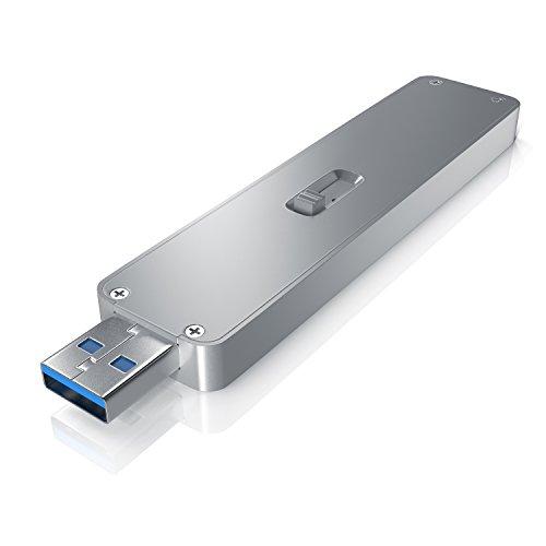 CSL - SSD Festplattengehäuse für M.2 Festplatten | USB 3.0 Case auf M2 Adapter (NGFF) | 1x M.2 Key B | m.2 Schnittstellen-Standard (NGFF) | Module: 2230/2242 / 2260/2280 | UASP Unterstützung