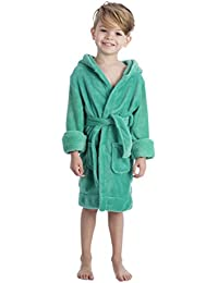 TurkishTowels Parador Boys Terry Velour Hooded Kids Beach or Pool Cover-Up