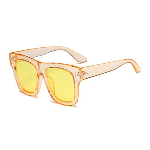 WERERT Sportbrille Sonnenbrillen Retro Women Square Sunglasses Designer Fashion Nail Decoration Ladies Pink Gradient Shades