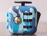 Fidget Cube entlastet Stress und Angst für Kinder und Erwachsene Spielzeug Geschenke(camouflage - blau)