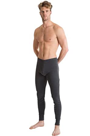 RP Collections® Mens Thermal Underwear Charcoal Long Johns / Pants (Small)