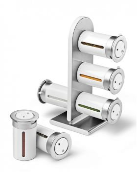 Magnetisches Gewürzregal 6er, weiß