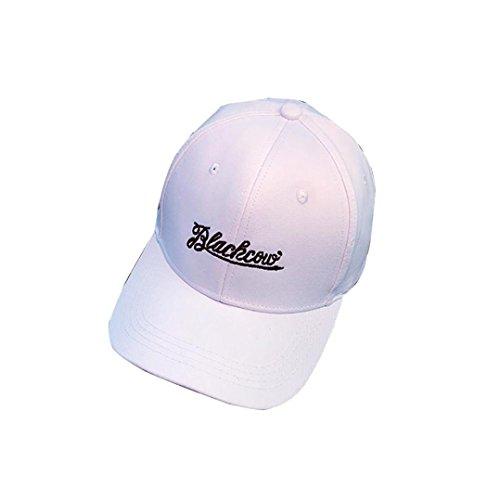 UFACE Buchstabe Stickerei Ball Kappe Stickerei Brief Baseball Cap Snapback Hip Hop flachen Hut (Weiß-2) (Cap Leder Ball)