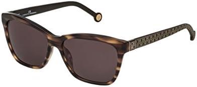 Carolina Herrera SHE701 BROWN GRAY STAMPED LOGO (06HN) - Gafas de sol