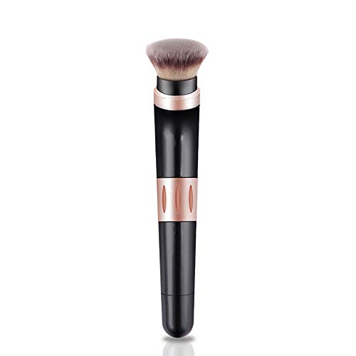 Electric Make-up Brush,360 ° rotierende Kosmetik Pinsel mit Replaceable Foundation Powder Brush Head und Brusher Brush Head für Blenden, Contouring und Airbrush Finish (Brush Powder Finish)