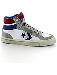 Inverse - Converse Chaussures De Sport Pro Peau Blanche Flamme Salut Bébé - Blanco, 41