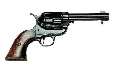 Revolver Colt Peacemaker mit 6 Dekopatronen schwarz -