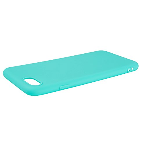 iPhone-7 / iPhone-8 Hülle Case | schwarz matt | SOFT TOUCH TPU | Perfekter Schutz | Schutzhülle Matt verschiedene Farben Apple iPhone 7 / iPhone 8 Cover - Movoja® iPhone7 / iPhone8 Schwarz Mint