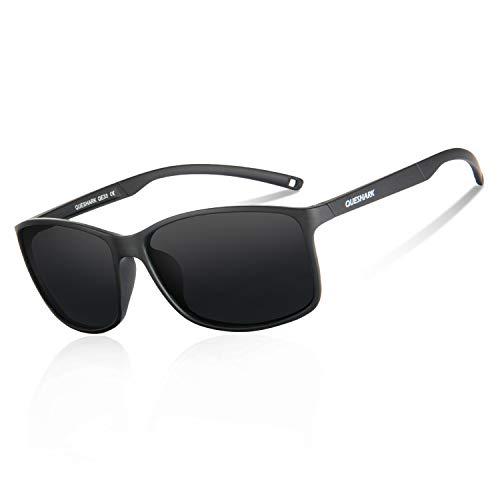 Queshark Gafas de Sol Deportivas Polarizadas Para Hombre Perfectas Para Esquiar Golf Correr Ciclismo 14.5g Ultraligero Para Hombre Mujer (C01)